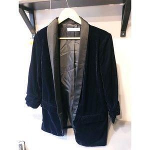 NEW Dex Brand Satin & Velvet Blazer